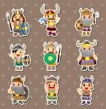 Etiquetas dos povos de Viquingues Fotografia de Stock Royalty Free