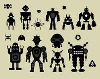 Etiquetas dos robôs Fotografia de Stock Royalty Free