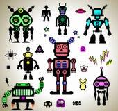 Etiquetas dos robôs Imagem de Stock Royalty Free
