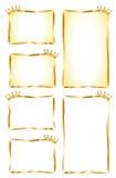 Etiquetas douradas Imagens de Stock