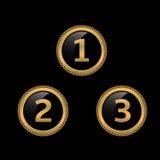 Etiquetas douradas da concessão Fotos de Stock Royalty Free