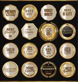 Etiquetas douradas da qualidade superior Fotos de Stock