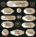 Etiquetas douradas da qualidade superior Imagens de Stock Royalty Free