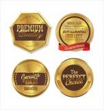 Etiquetas douradas da qualidade superior Fotos de Stock Royalty Free