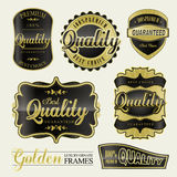 Etiquetas douradas superiores da qualidade Fotografia de Stock