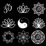 Etiquetas e ícones da ioga Foto de Stock