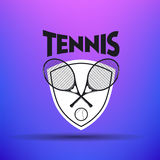 Etiquetas e crachás do tênis ilustração stock