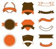 Etiquetas e emblemas Imagem de Stock