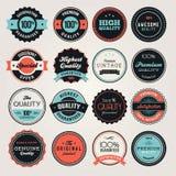 Etiquetas e emblemas do negócio Fotos de Stock Royalty Free