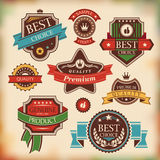 Etiquetas e emblemas do vintage Foto de Stock Royalty Free