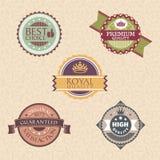 Etiquetas e emblemas do vintage Imagem de Stock