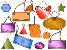 Etiquetas e etiquetas ilustração royalty free