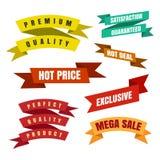Etiquetas e etiquetas coloridas da fita ilustração royalty free