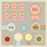 Etiquetas e etiquetas da venda Imagens de Stock