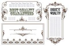 Etiquetas e etiquetas do estilo do vintage do vetor em versões diferentes ilustração royalty free