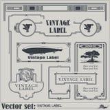Etiquetas e etiquetas do estilo do vintage do vetor em versões diferentes ilustração do vetor