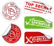 Etiquetas e etiquetas do segredo máximo Imagens de Stock