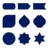 Etiquetas e insignias del dril de algodón Fotografía de archivo