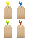 Etiquetas en blanco Imagen de archivo libre de regalías