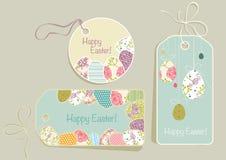 Etiquetas en el tema de Pascua Imágenes de archivo libres de regalías