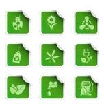 Etiquetas engomadas 1 de la ecología Imagen de archivo