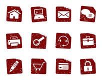 Etiquetas engomadas 1 del icono de Grunge Foto de archivo
