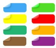 Etiquetas engomadas Stock de ilustración
