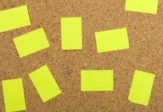 Etiquetas engomadas amarillas fotos de archivo libres de regalías