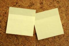 Etiquetas engomadas amarillas imagen de archivo libre de regalías