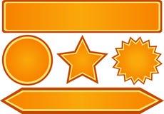 Etiquetas engomadas anaranjadas Foto de archivo libre de regalías