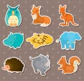 Etiquetas engomadas animales Imagen de archivo libre de regalías