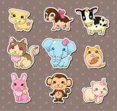 Etiquetas engomadas animales Fotografía de archivo libre de regalías