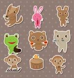Etiquetas engomadas animales de la música del juego Fotografía de archivo libre de regalías