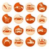 Etiquetas engomadas automotrices Fotografía de archivo