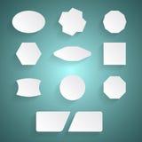 Etiquetas engomadas blancas Imágenes de archivo libres de regalías
