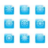 Etiquetas engomadas brillantes cuadradas ilustración del vector