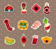 Etiquetas engomadas chinas del Año Nuevo Foto de archivo
