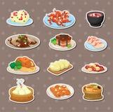 Etiquetas engomadas chinas del alimento Fotografía de archivo libre de regalías