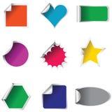 Etiquetas engomadas coloreadas Fotos de archivo