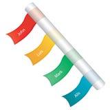 Etiquetas engomadas coloreadas Fotos de archivo libres de regalías