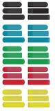 Etiquetas engomadas coloreadas Imagen de archivo libre de regalías