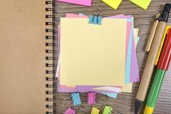 Etiquetas engomadas coloreadas Imágenes de archivo libres de regalías