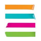 Etiquetas engomadas coloridas Foto de archivo libre de regalías
