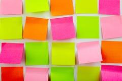 Etiquetas engomadas coloridas Imágenes de archivo libres de regalías