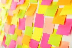 Etiquetas engomadas coloridas Imagen de archivo