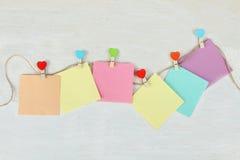 Etiquetas engomadas coloridas Fotografía de archivo