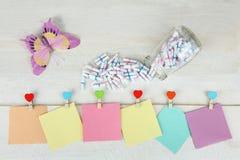 Etiquetas engomadas coloridas Fotos de archivo