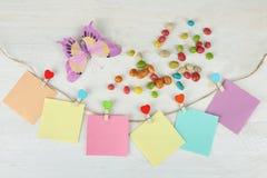 Etiquetas engomadas coloridas Fotos de archivo libres de regalías