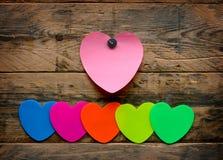 Etiquetas engomadas coloridas brillantes Imagen de archivo libre de regalías