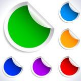 Etiquetas engomadas coloridas del espacio en blanco del vector. Fotografía de archivo libre de regalías